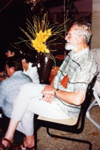 Owen Fletcher, pictured at The Homeric Feast, 1990. Photo credit: Dr Rhyl Hinwood AM